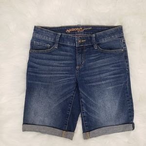 Arizona Jeans Medium Wash Denim Cuffed Jean Shorts
